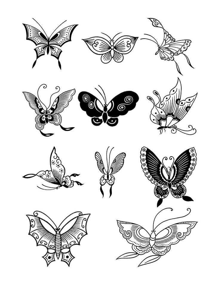 бабочки тату