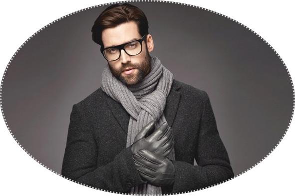мужскойй шарф и перчатки