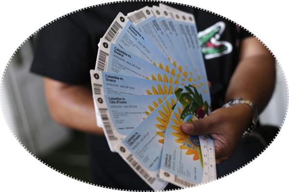 билеты в руках