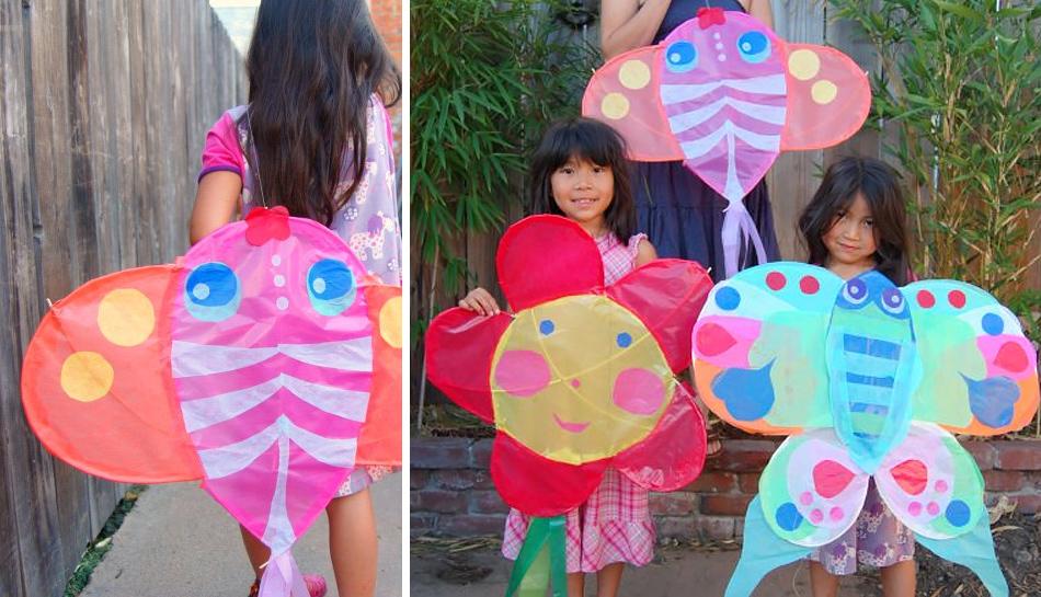 фантазийный воздушный змей для детей. делаем самостоятельно