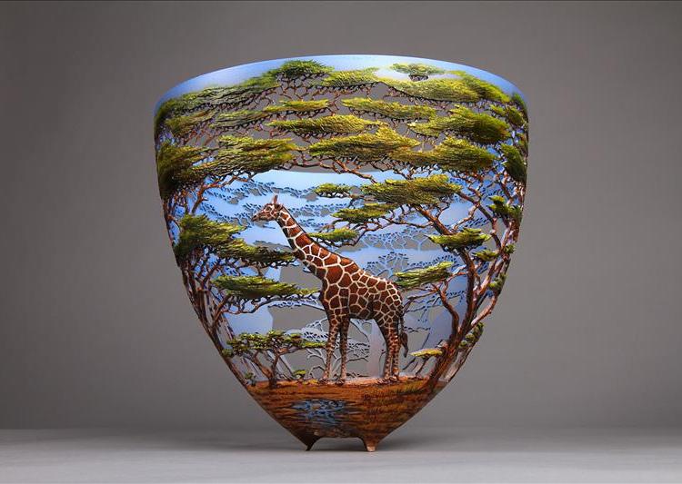 ваза резьба по дереву