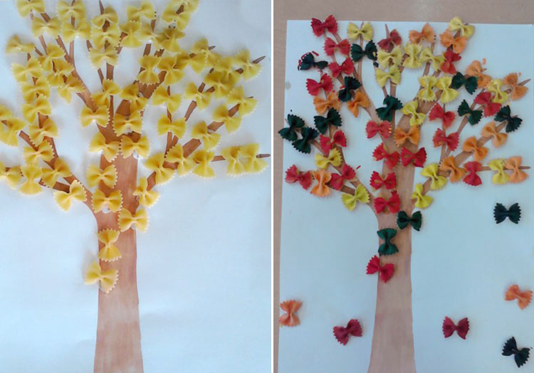 дерево из макарон