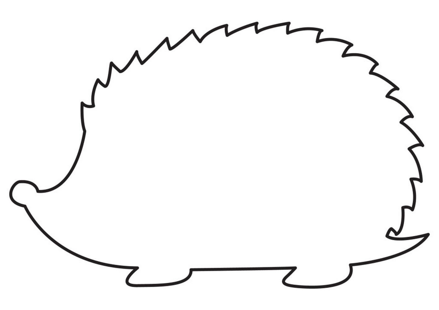Картинка ежика для вырезания