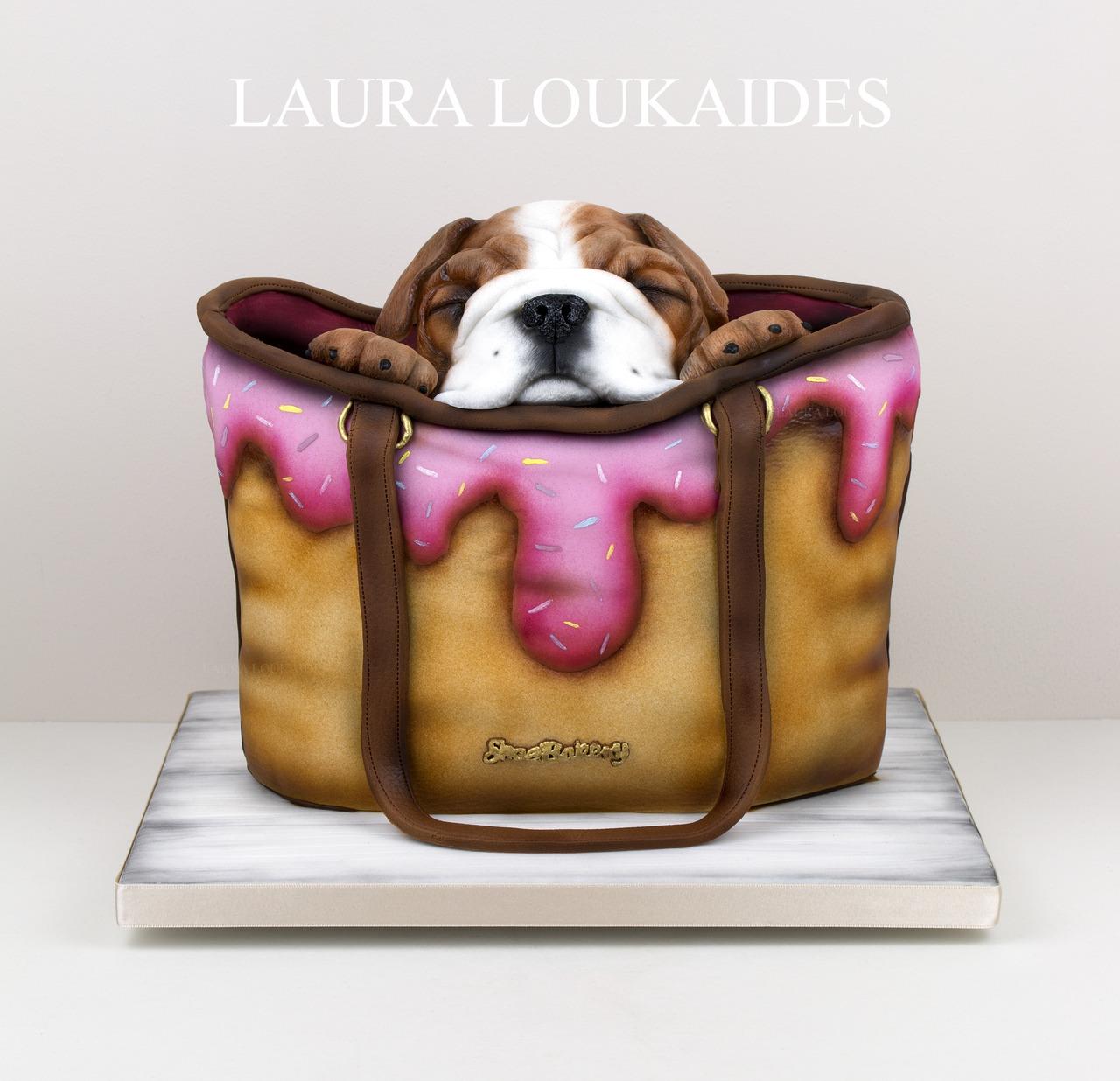 торт собака в сумке