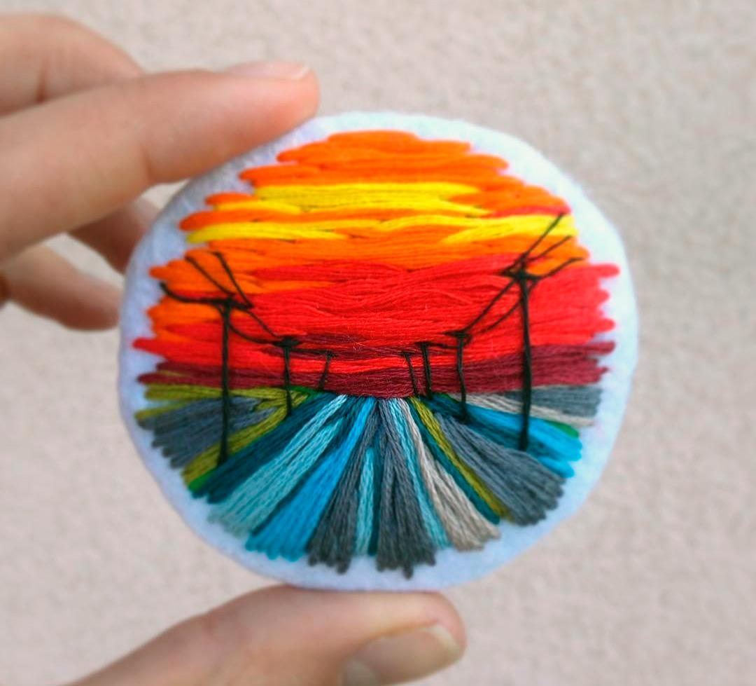 вышивка картин из ниток