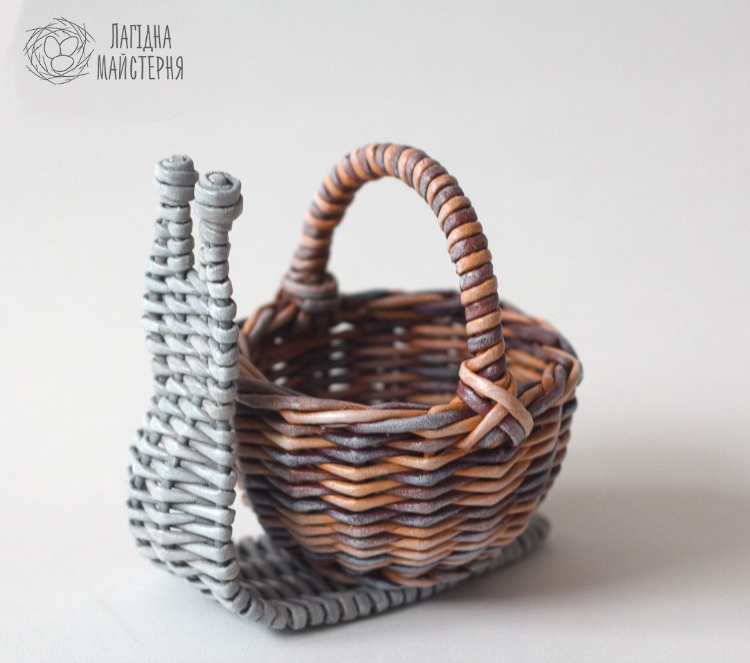 улитка конфетница - ситцевое плетение