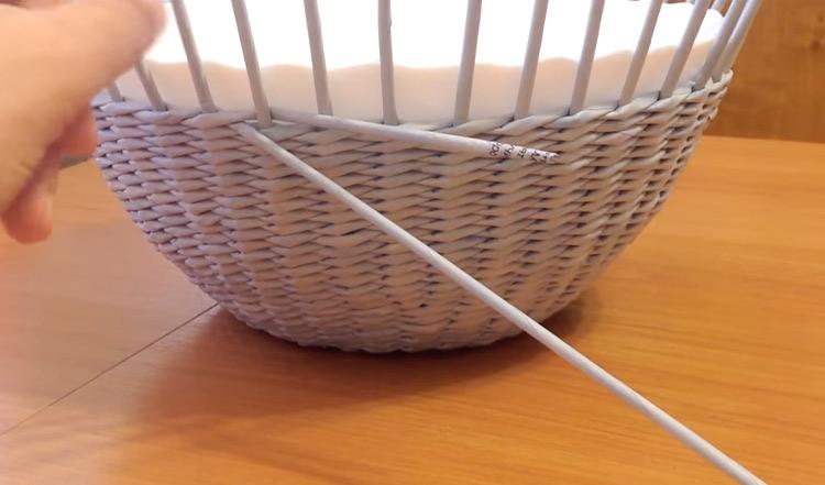 переворачиваем плетение
