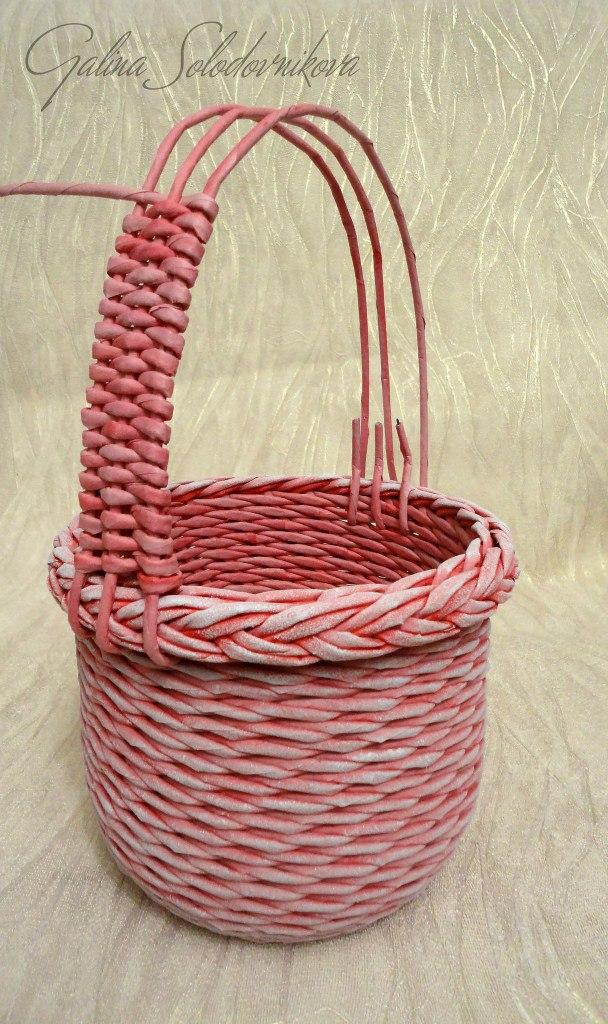 ручка ситцевым плетением