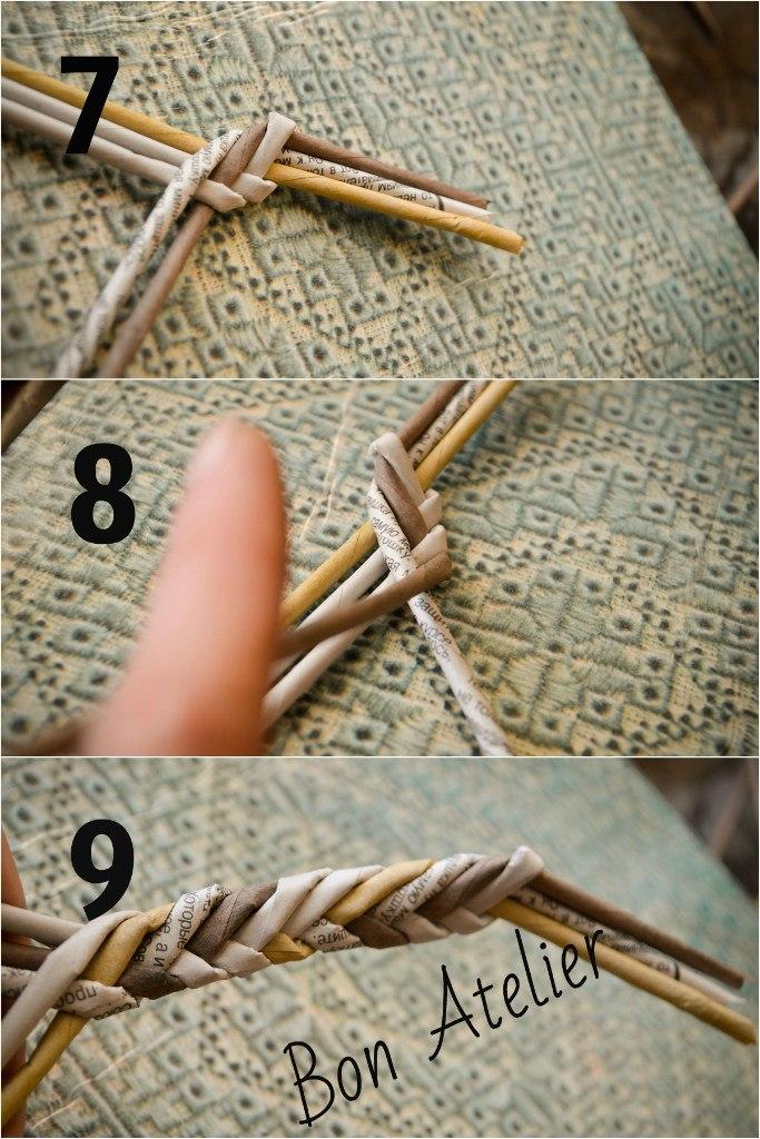 ручка Косичка в 4 трубочки