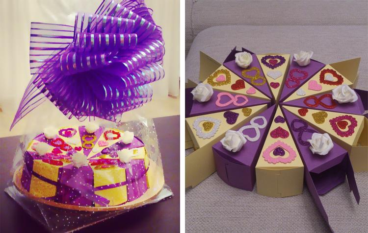 денежный торт с пожеланиями