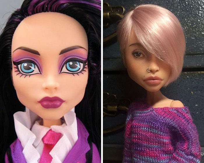 кукла с прической боб