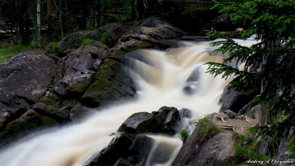 Водопад Ахвенкоски, Сортавальский район Карелии