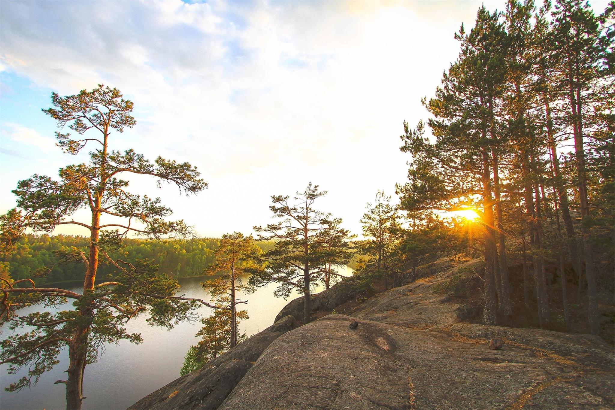 Озеро Ястребиное. Ленинградская область.