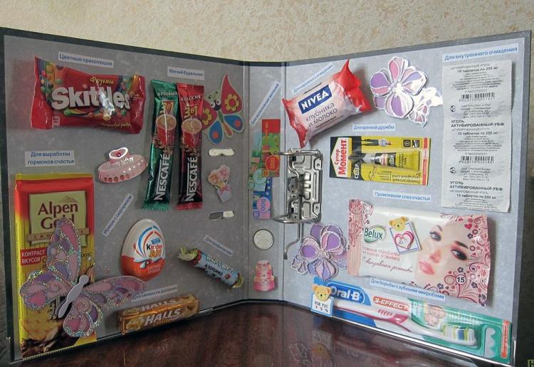 сладкий плакат с конфетами и шоколадками