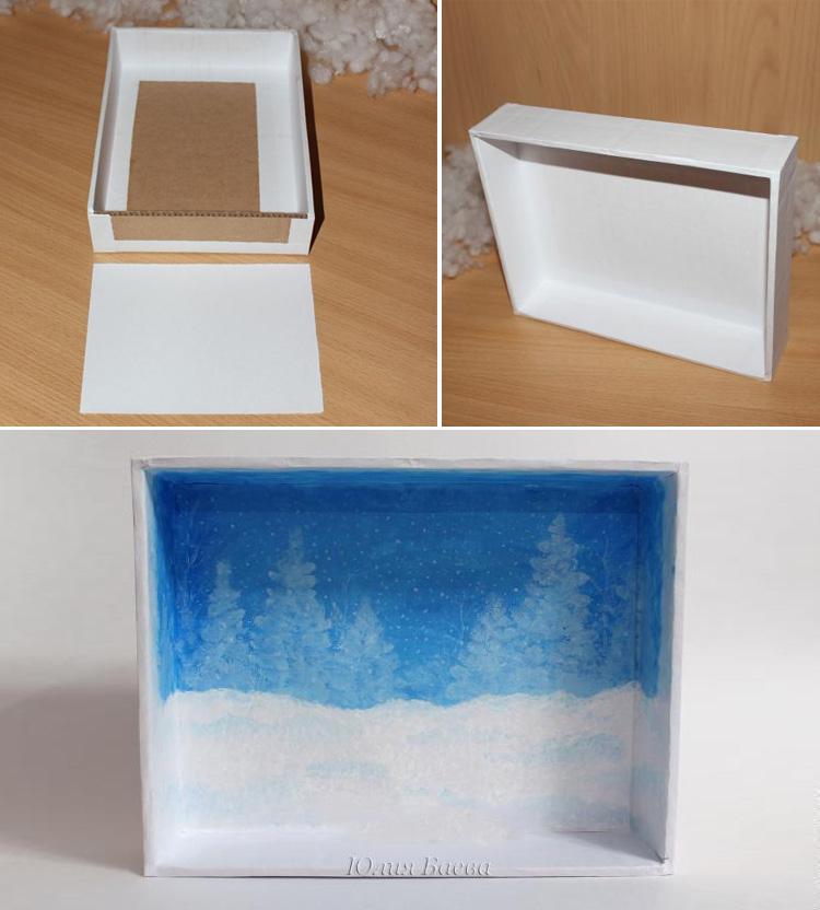 обклеим и покрасим коробку