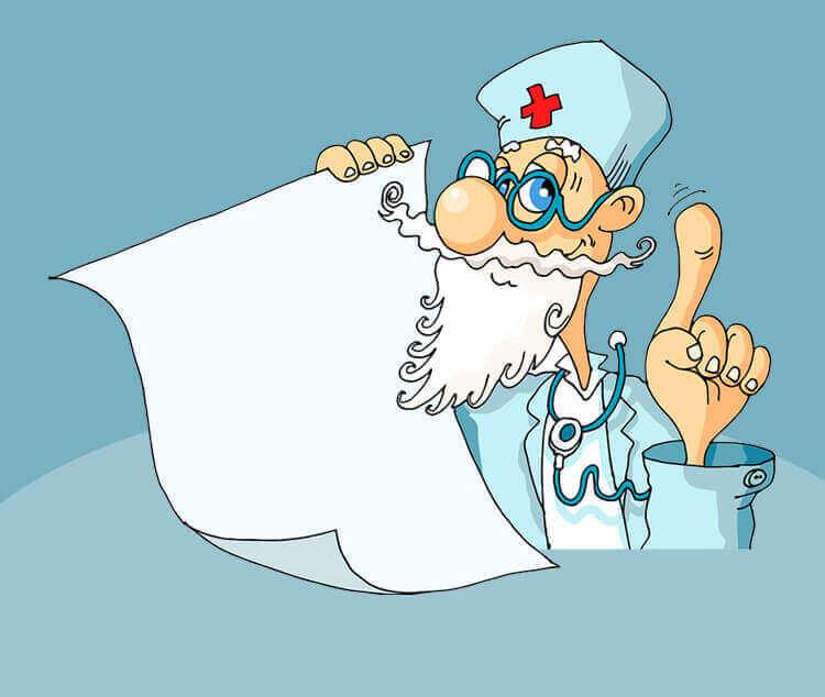 Анекдот «Дед у врача»