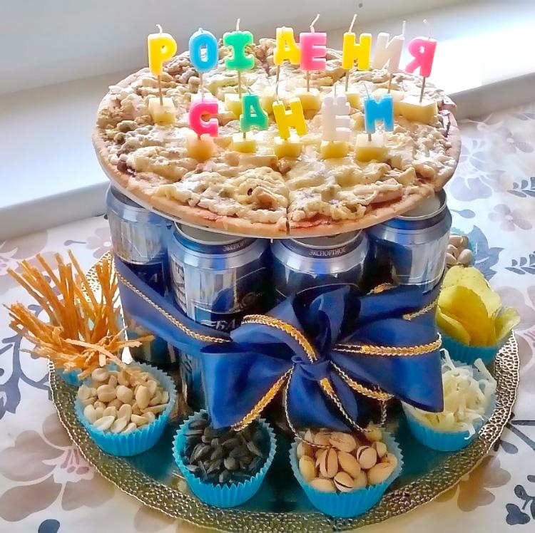торт со стаканчиками