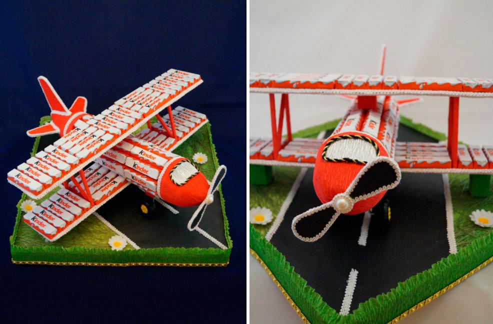 самолет из шоколадок