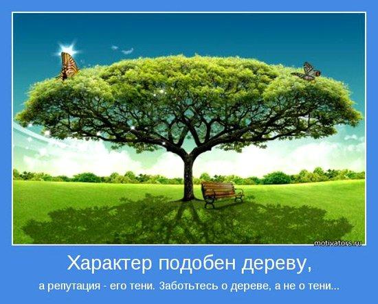 Характер подобен дереву