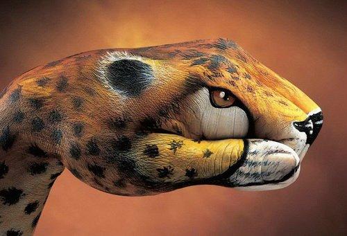 Изображение животных на руках