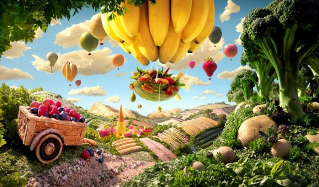 «Вкусные картины» из еды