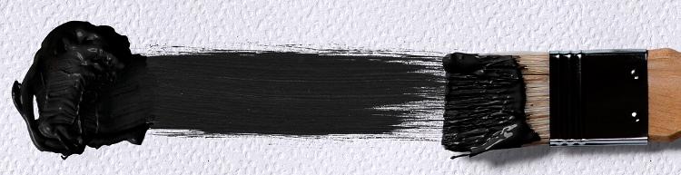 мазок кисти - черный