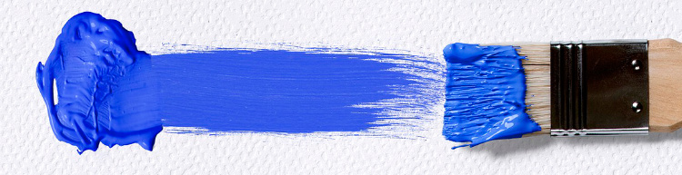 мазок кисти - синий