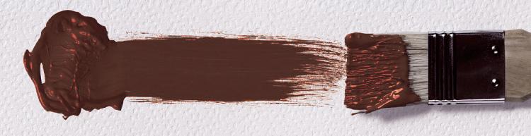 мазок кисти - коричневый