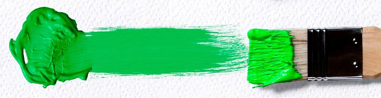 мазок кисти - зеленый