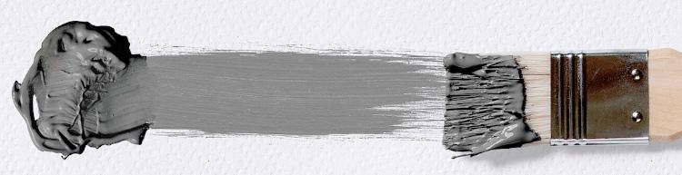 мазок кисти - серый