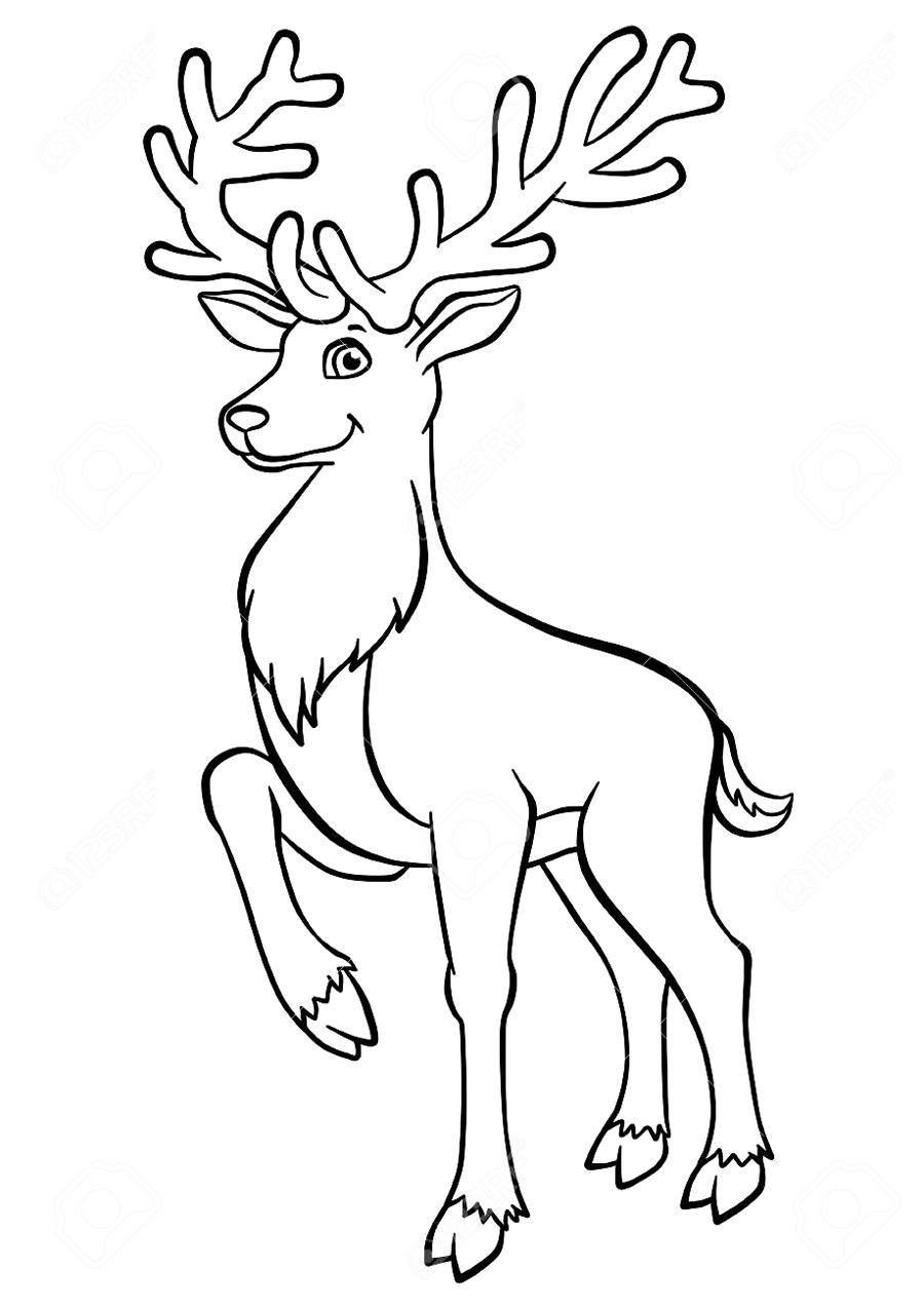 Как нарисовать оленя карандашом поэтапно для детей