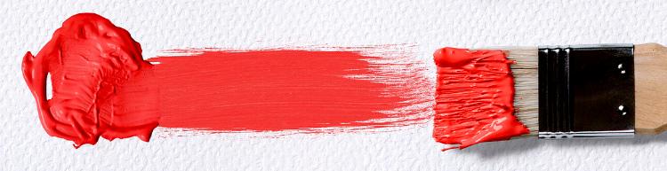 мазок кисти - красный