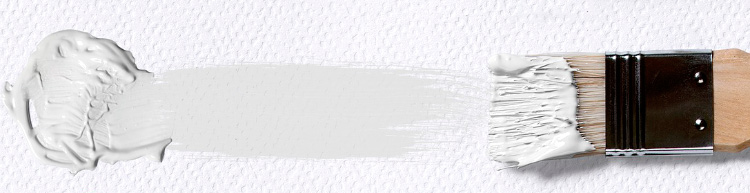 мазок кисти - белый