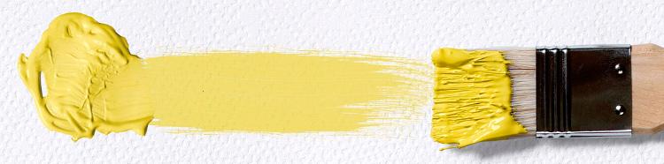 мазок кисти - желтый