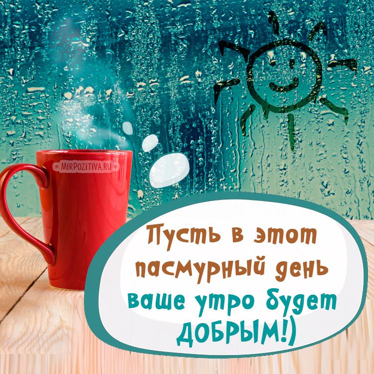 Пусть в этот пасмурный день ваше утро будет ДОБРЫМ!)