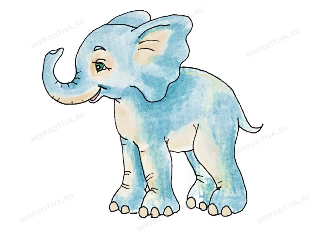 рисунок слона