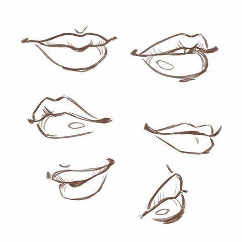 срисовка губ