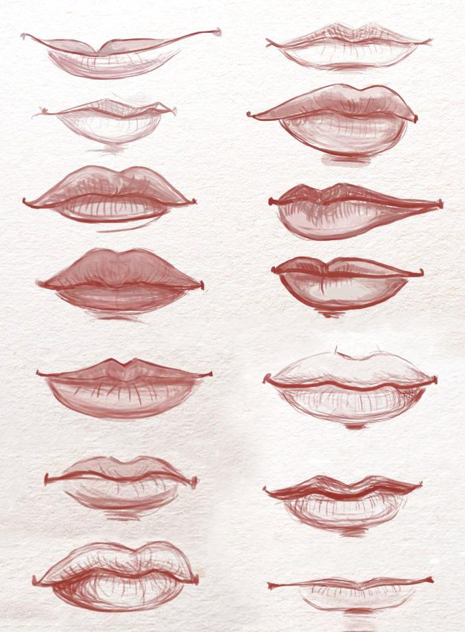 разные формы губ