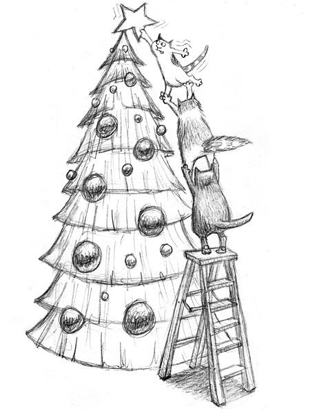 звери украшают елку