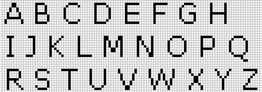 алфавит английские буквы