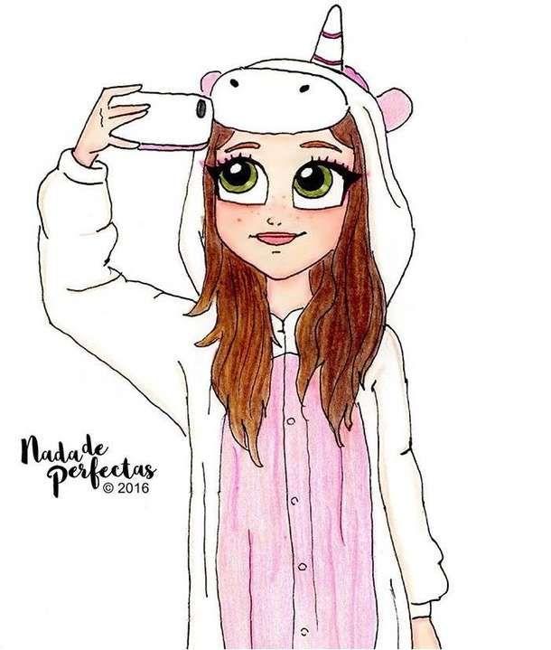 в пижаме девочка