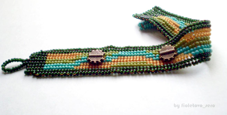 пример плетением плоское ндебеле