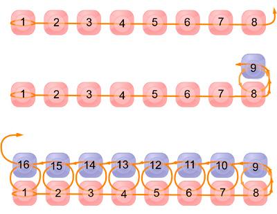схема квадратный стежок