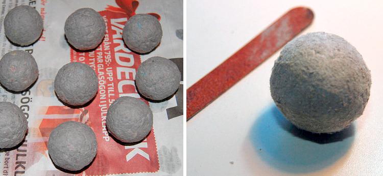 формируем шары