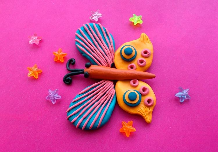 пластилиновая бабочка