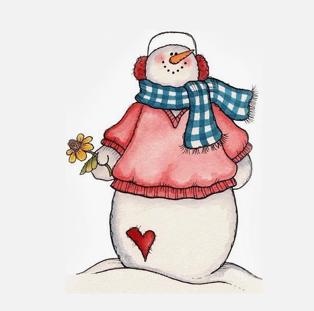 срисовка снеговичок