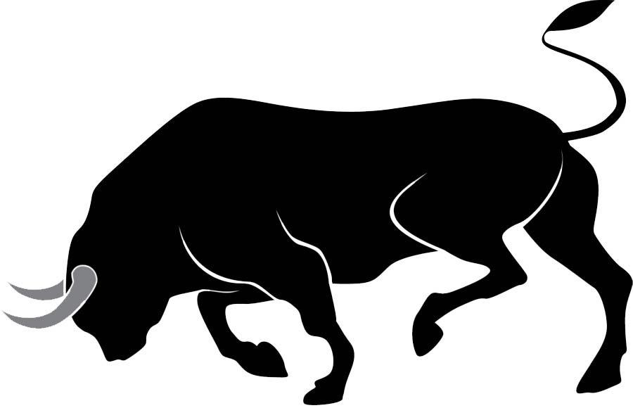 трафарет быка 2