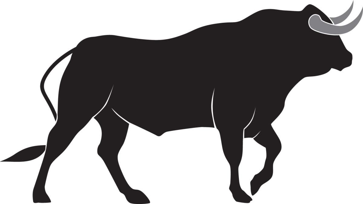 трафарет быка 1
