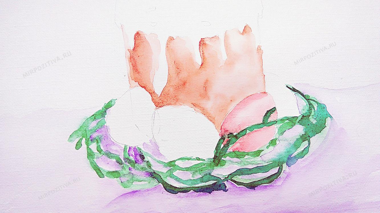 разукрашиваем красками яйца