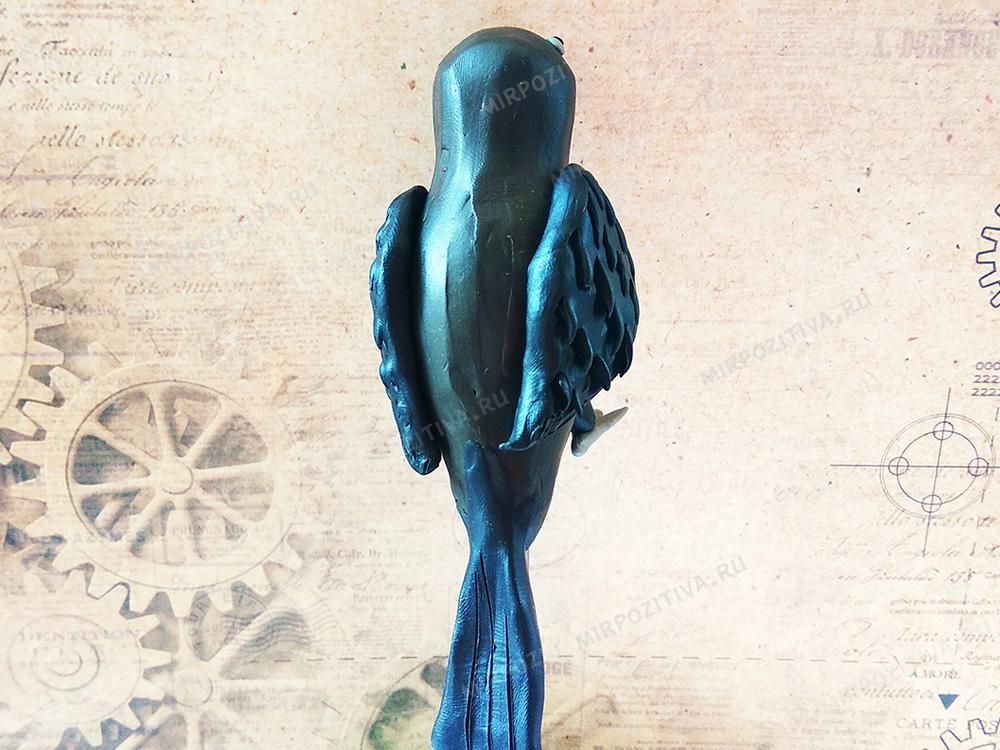 ворона вид сзади